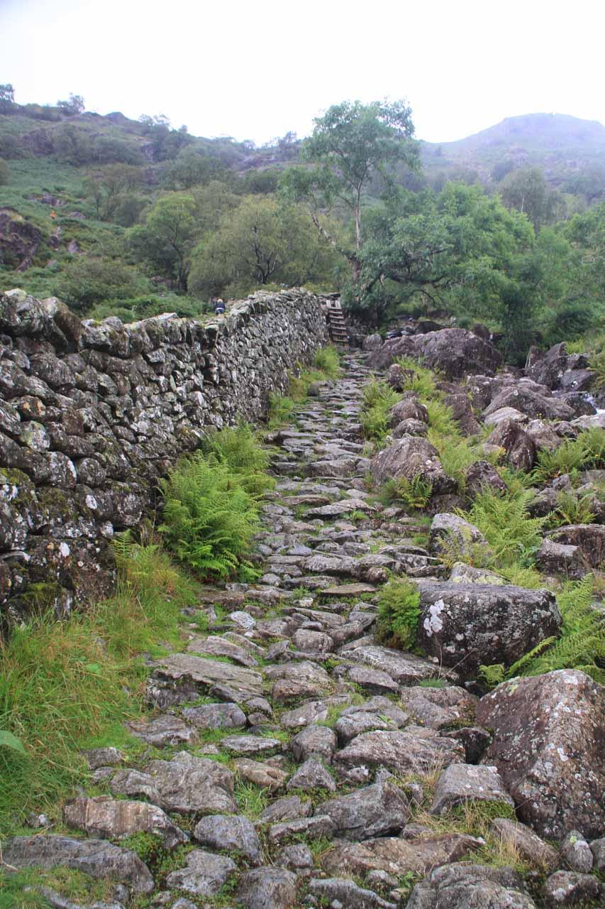 Rocky path climbing alongside Taylor Gill Force