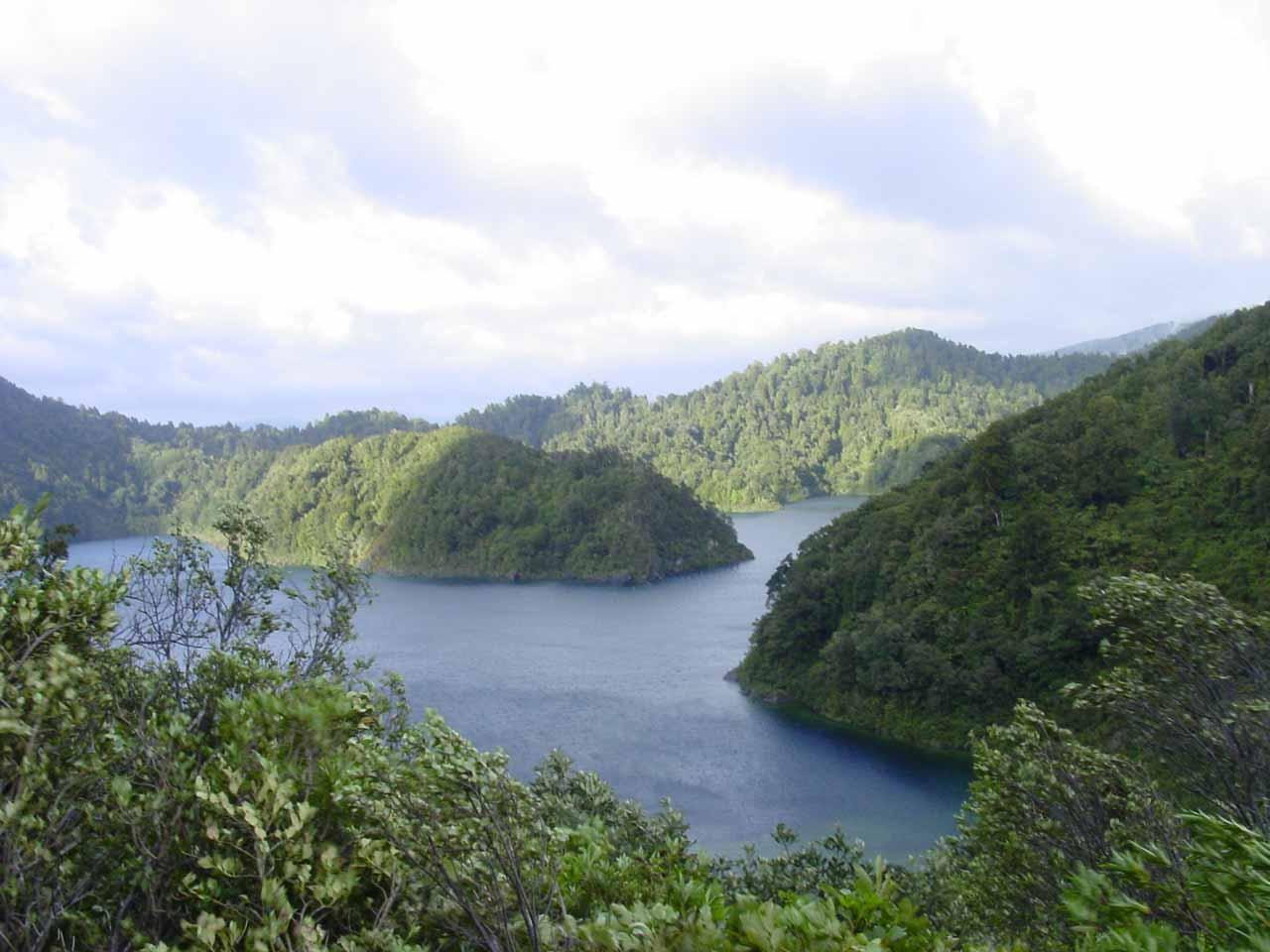 Before Mokau Falls, the bush scenery dominating Te Urewera National Park started to change a bit as the remote Lake Waikaremoana started revealing itself to us