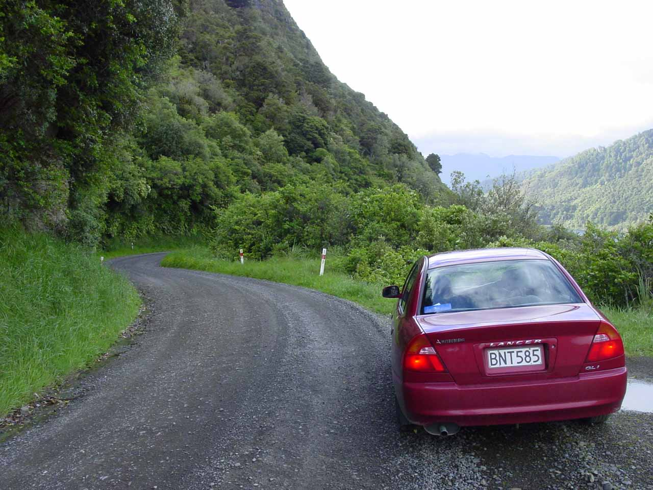 This was the unsealed road we had driven on for a few hours just to even get close to Mokau Falls