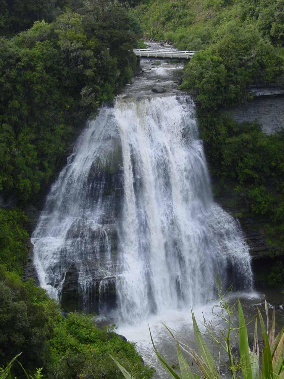 Also along the way to Papakorito Falls on the Lake Waikaremoana Road was this view of Mokau Falls