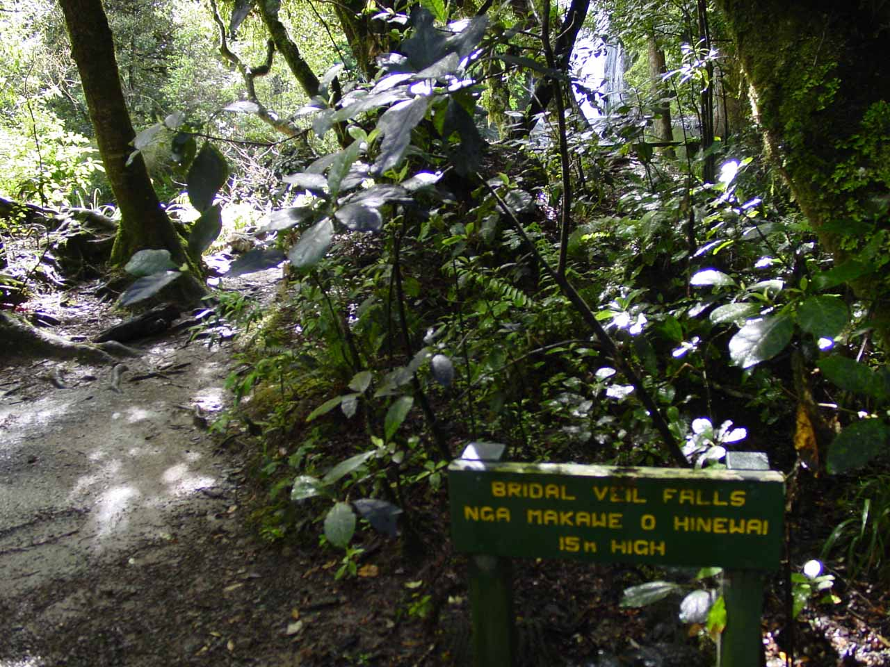 Signposted spur to Bridal Veil Falls