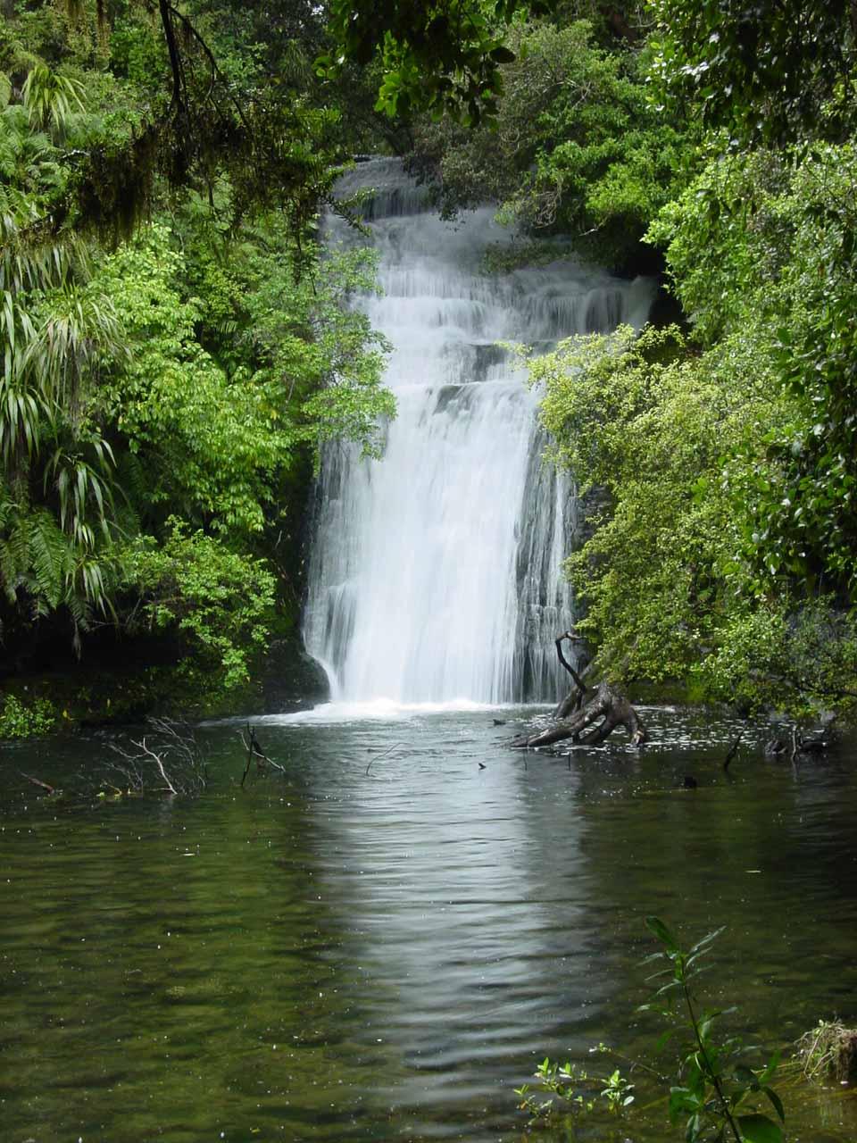 The Bridal Veil Falls near the Aniwaniwa Visitor Centre