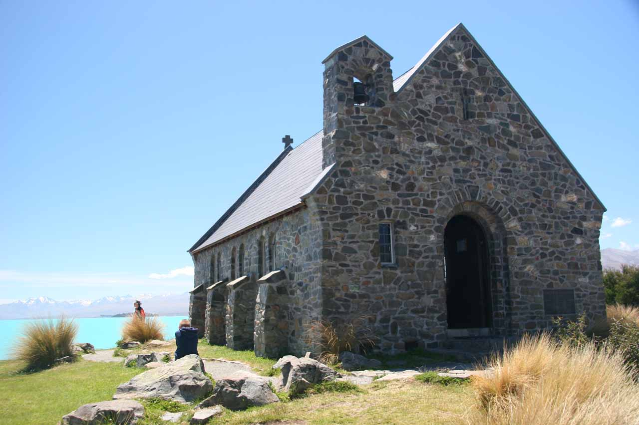 On the way to Mt Cook (and Wakefield Falls), we passed by the well-known Church of the Good Shepherd, which was next to the colourful Lake Tekapo