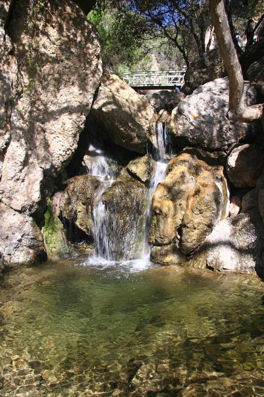 The lowermost Temescal Canyon Falls