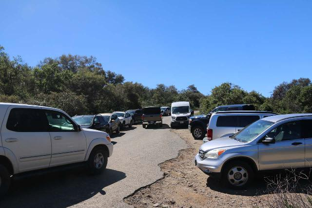 Tenaja_Falls_001_03312019 - Over the years, we've observed that parking space is very limited in almost every Southern California waterfall and the Tenaja Falls situation is no different