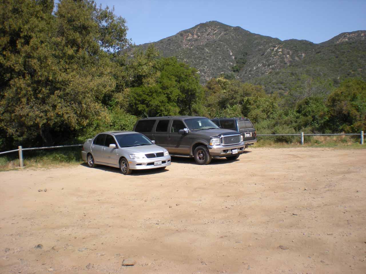 Car park for Tenaja Falls