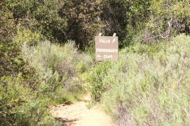 Tenaja_Falls_014_03312019 - Signage as we approached a fork in the trail leading to either Tenaja Falls or Fisherman's Camp. This sign used to not be there prior to our March 2019 visit