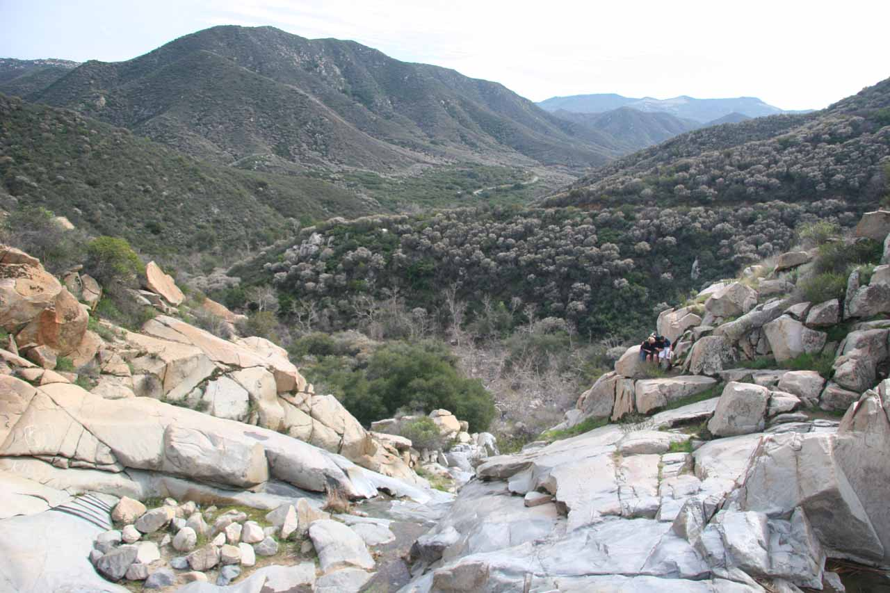 Nice view of the scenic San Mateo Canyon Wilderness from the top of Tenaja Falls