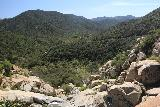 Tenaja_Falls_137_03312019 - Looking over the brink of Tenaja Falls into the San Mateo Wilderness during our late March 2019 visit