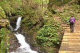 Tendaki_064_10222016 - Mom crossing another bridge as the Tendaki Trail passed by yet another intermediate cascade