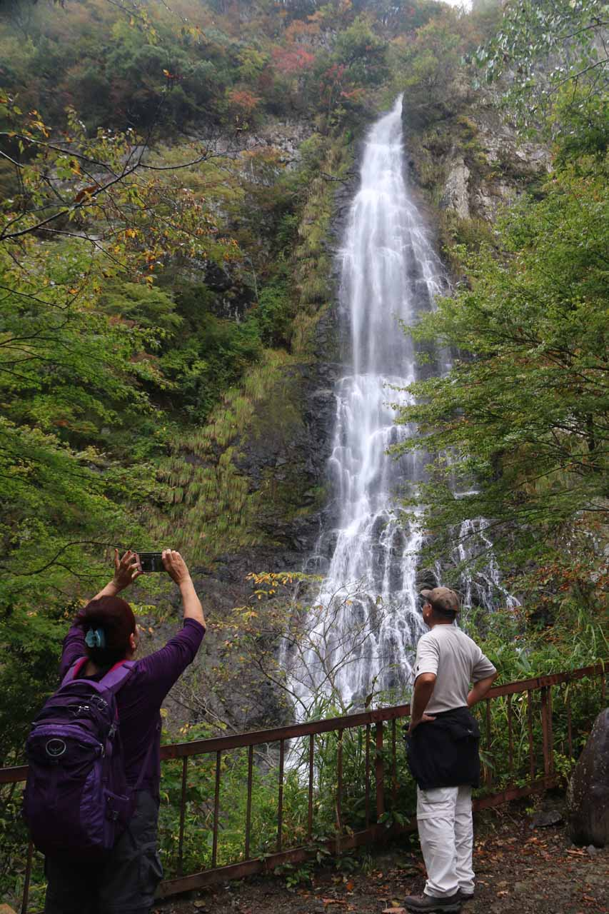 Mom and Dad checking out the impressive Tendaki Waterfall