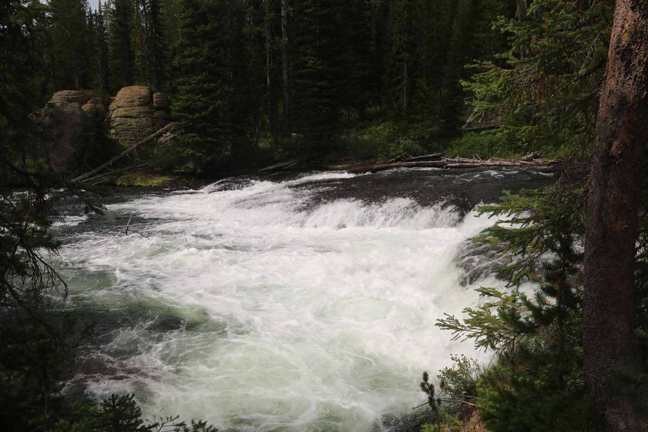 This was one of the short cascades on the Falls River, which I believed to be part of the Cascade Acres