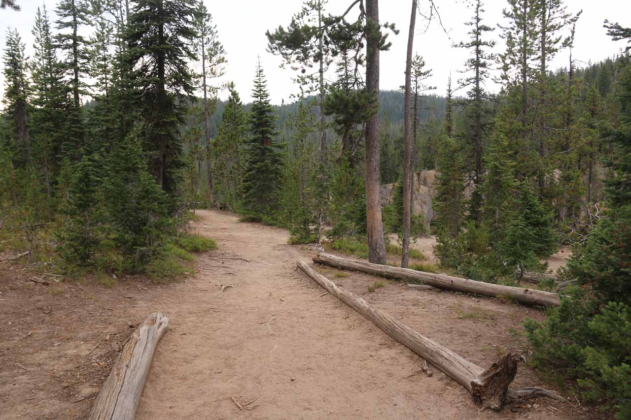 This was the Terraced Falls Trail when it was pretty much adjacent to the hard-to-see Terraced Falls itself