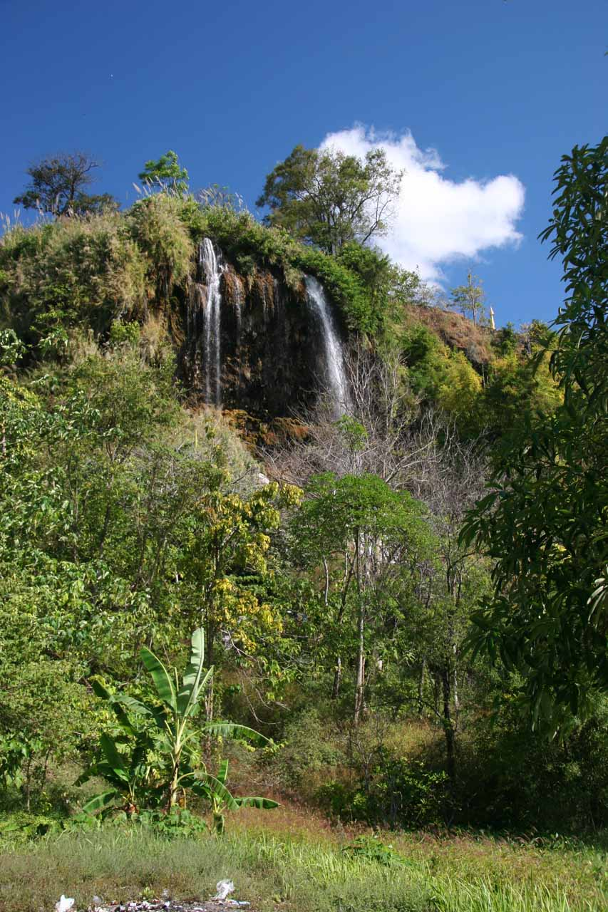 View of the Thararak Waterfall as we were scrambling around looking to improve our view
