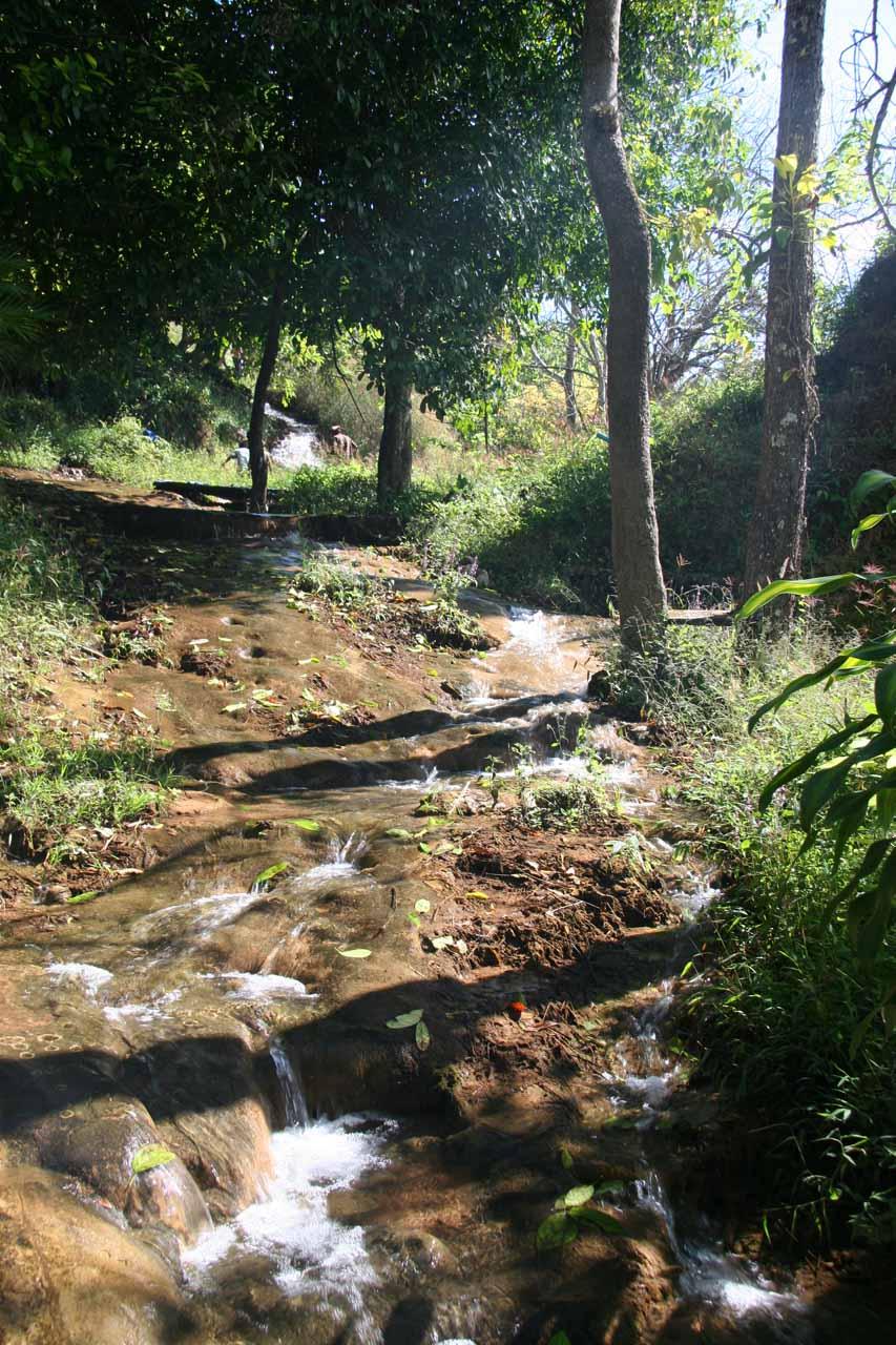More of the stream beneath the Thararak Waterfall
