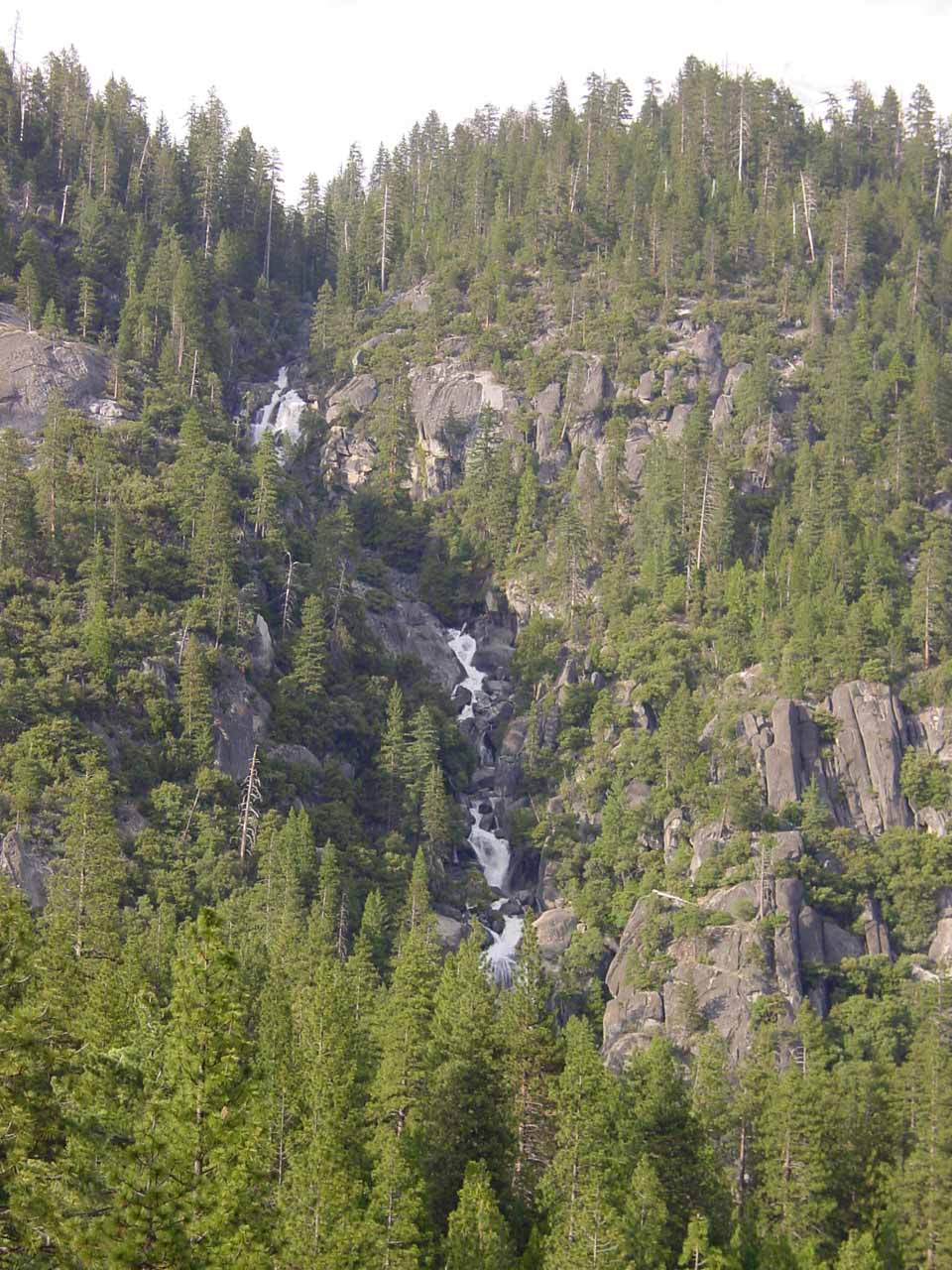 Looking up at the Cascades from the bridge