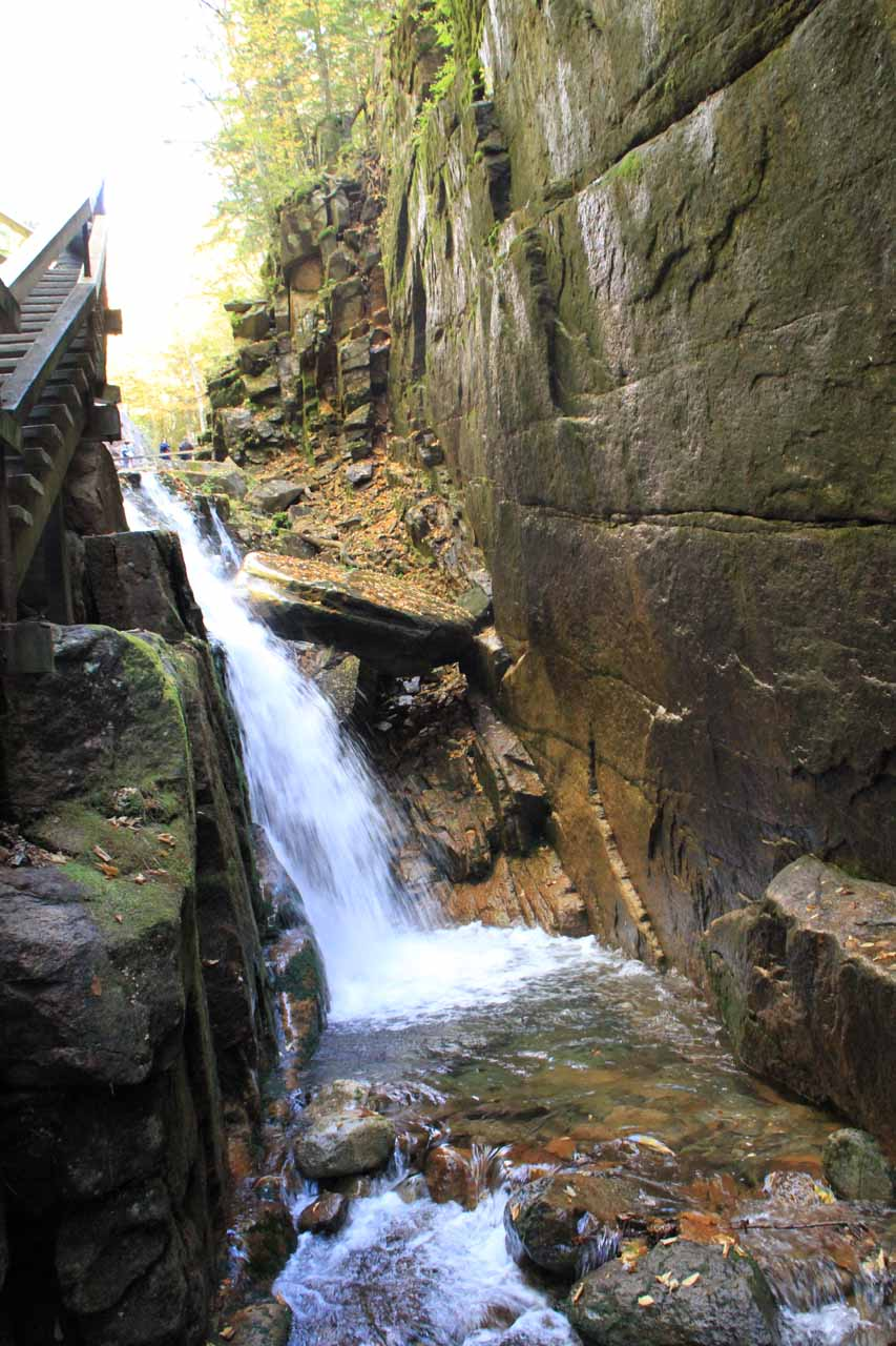This was the attractive waterfall at the head of The Flume Gorge