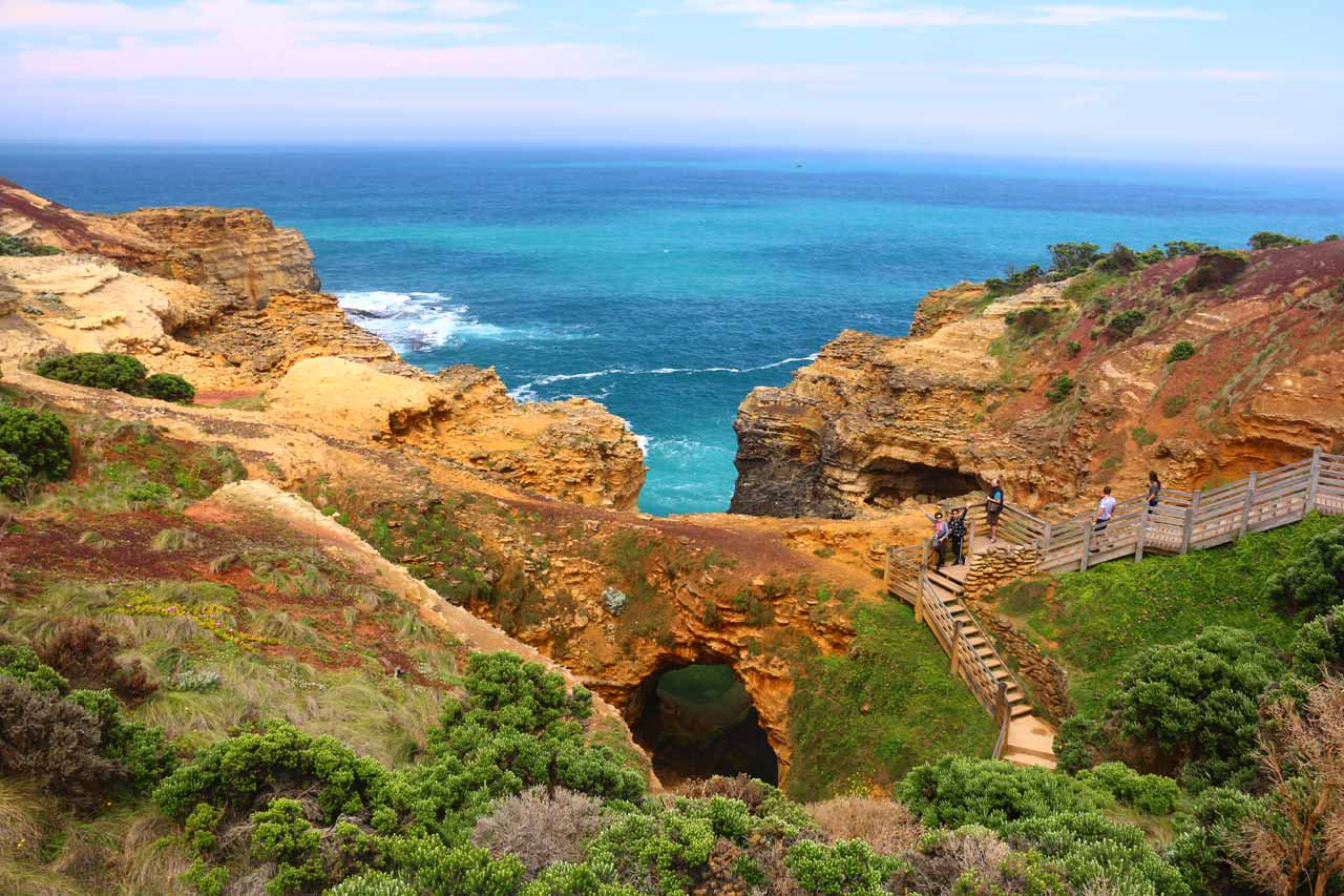 The further to the east we went, the more dramatic the scenery of the Great Ocean Road became like at this sea arch known as The Grotto