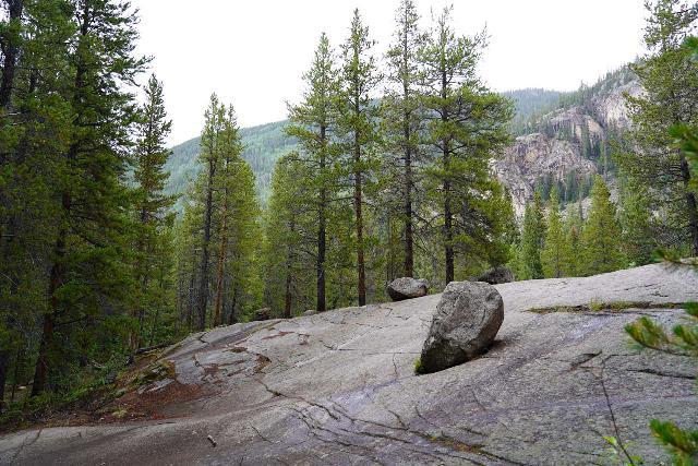 The_Grottos_032_07252020 - Looking back at glacial erratics seen along the Grottos Loop Trail