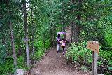 The_Grottos_035_07252020 - Julie and Tahia continuing towards the Ice Caves as we went past some more signs and junctions along the Grottos Trail