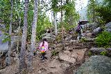 The_Grottos_046_07252020 - Julie and Tahia continuing to climb the Grottos Loop Trail on the way to the Cascades