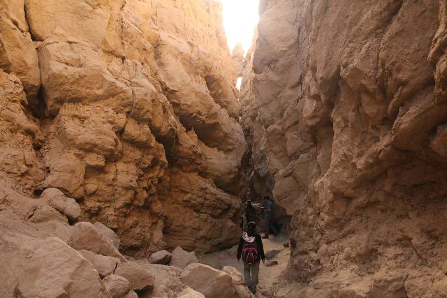 The_Slot_044_02092019 - Further east of Borrego Springs was a rare slot canyon in California, which was known simply as The Slot. This was as close to the kind of experience typically reserved for slot canyon adventurers in Southern Utah and Northern Arizona