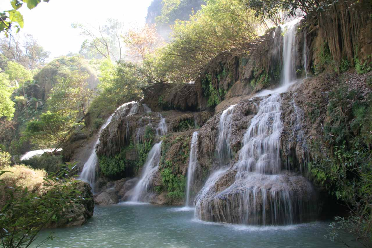 Another one of lower tiers of the Thi Lo Su Waterfall allowing for swimming