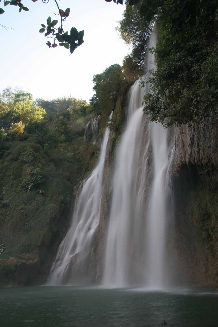 The uppermost tier of the Thi Lo Su Waterfall that we could safely get close to