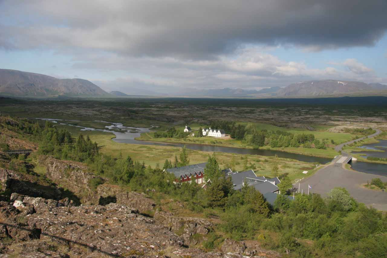 Looking across the great rift valley at Þingvellir