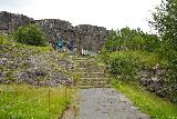 Thingvellir_040_08062021 - Ascending the path leading up to Oxararfoss at Thingvellir