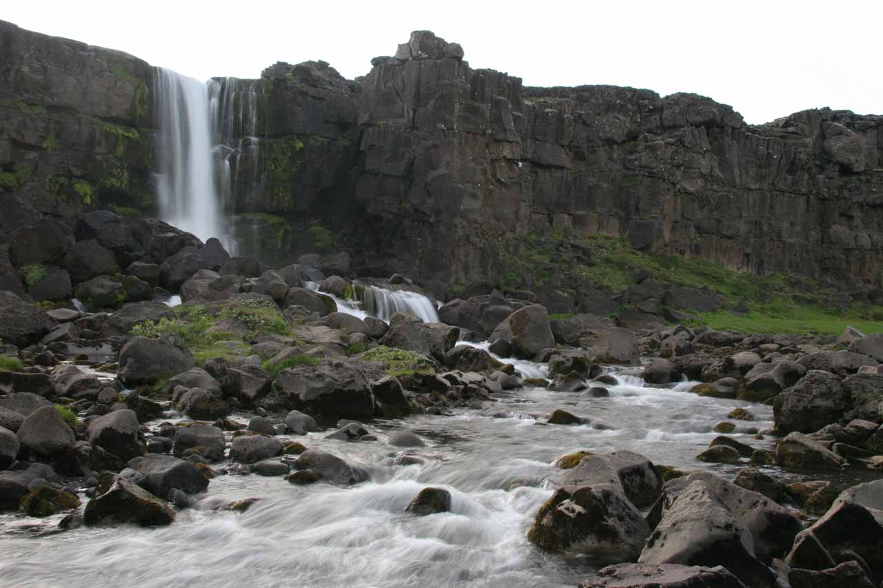 A different view of Öxarárfoss