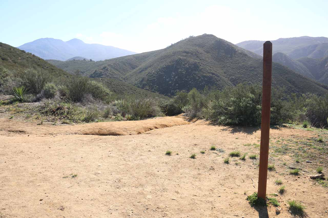 This pole was at the first switchback