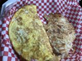 Thronsons_004_iPhone_08082017 - The breakfast omelette that Julie got from the Glacier Edge Cafe that we took to go