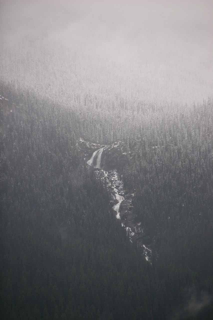 Thunder Falls across Moose Lake