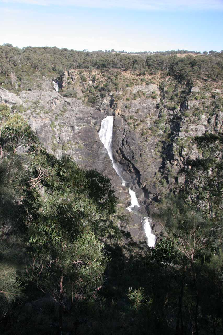 Full context of Tia Falls from the overlook