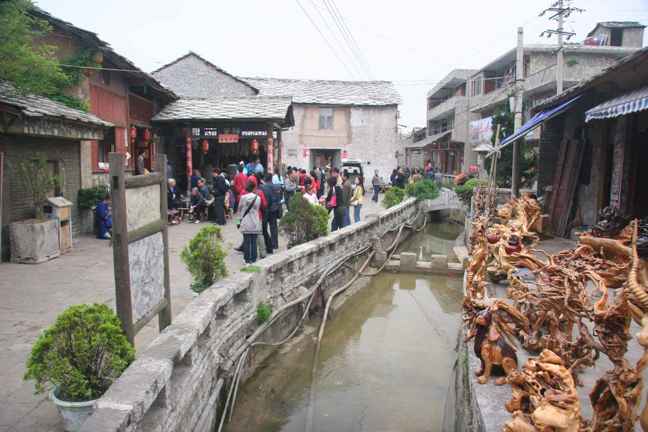 A small canal passing through Tianlong village