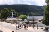 Titisee_012_06212018 - Contextual look at the busy throughfare between some restaurants and the Lake Titisee itself