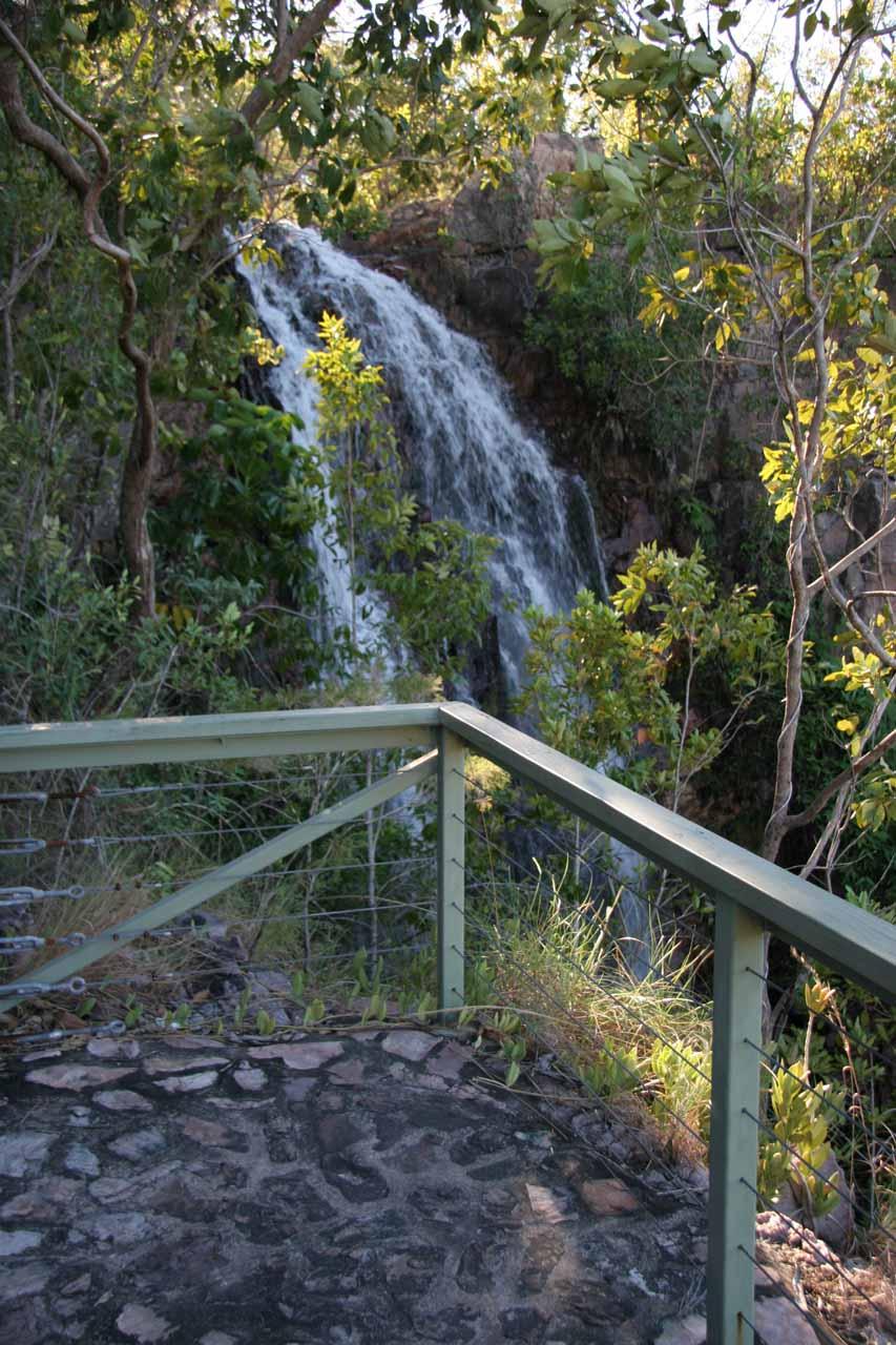 The viewing platform for Tjaetaba Falls