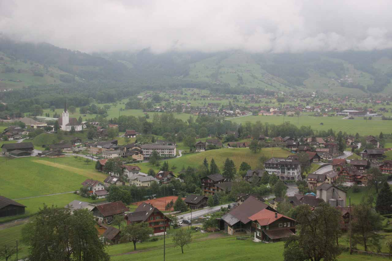 Views of some town en route to Lucerne