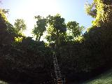 To_Sua_053_goPro_11132019 - Looking back up at the ladder from the waters within the To Sua Ocean Trench