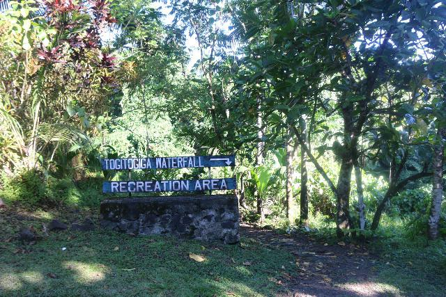 Togitogiga_Waterfall_004_11112019 - The sign for the Togitogiga Waterfall Recreation Area
