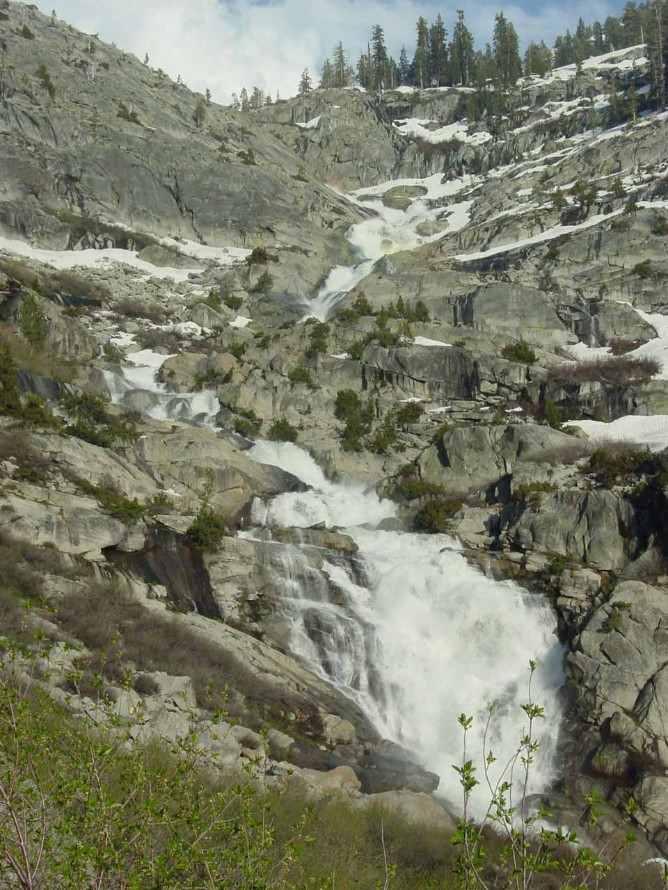 Another look at the twisting cascade of Tokopah Falls