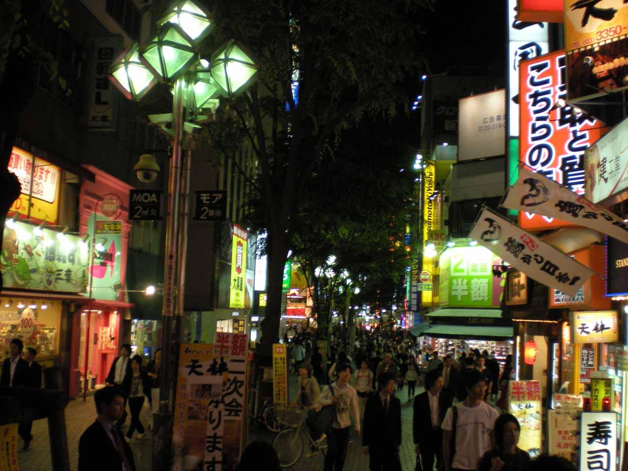 Walking amongst the crowds in Shinjuku