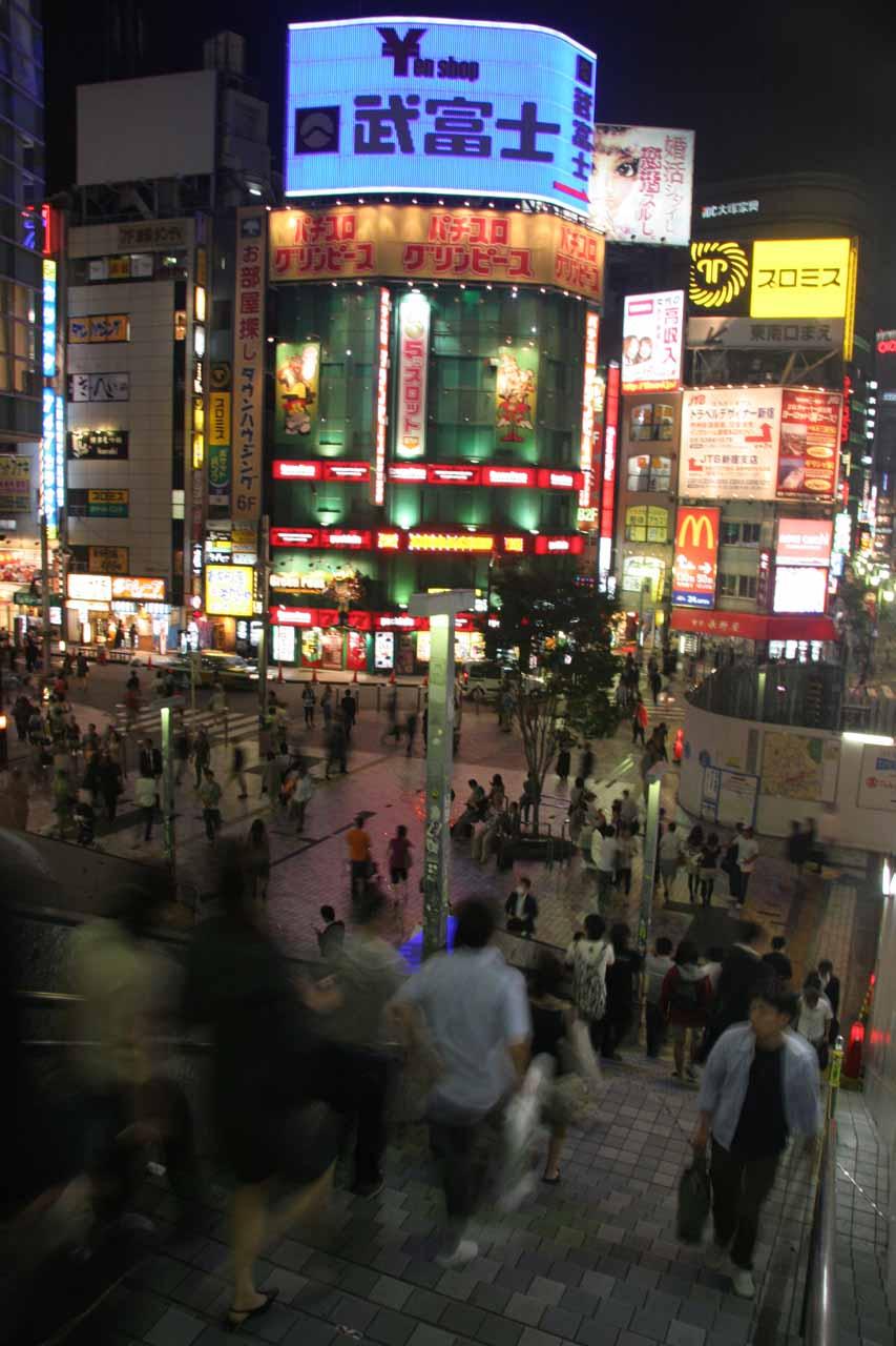 A real busy part of Shinjuku