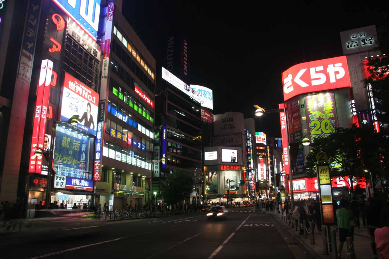Night time in Shinjuku
