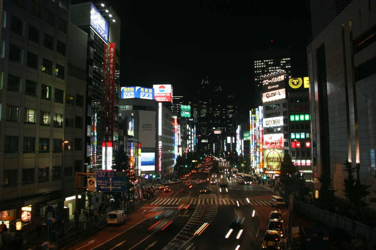 Night time in Shinjuku