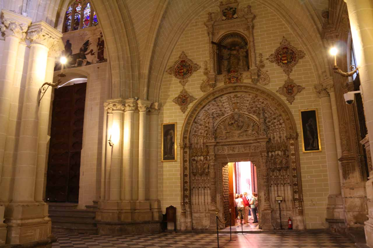 About to enter the Treasure Room inside the Catedral de Toledo