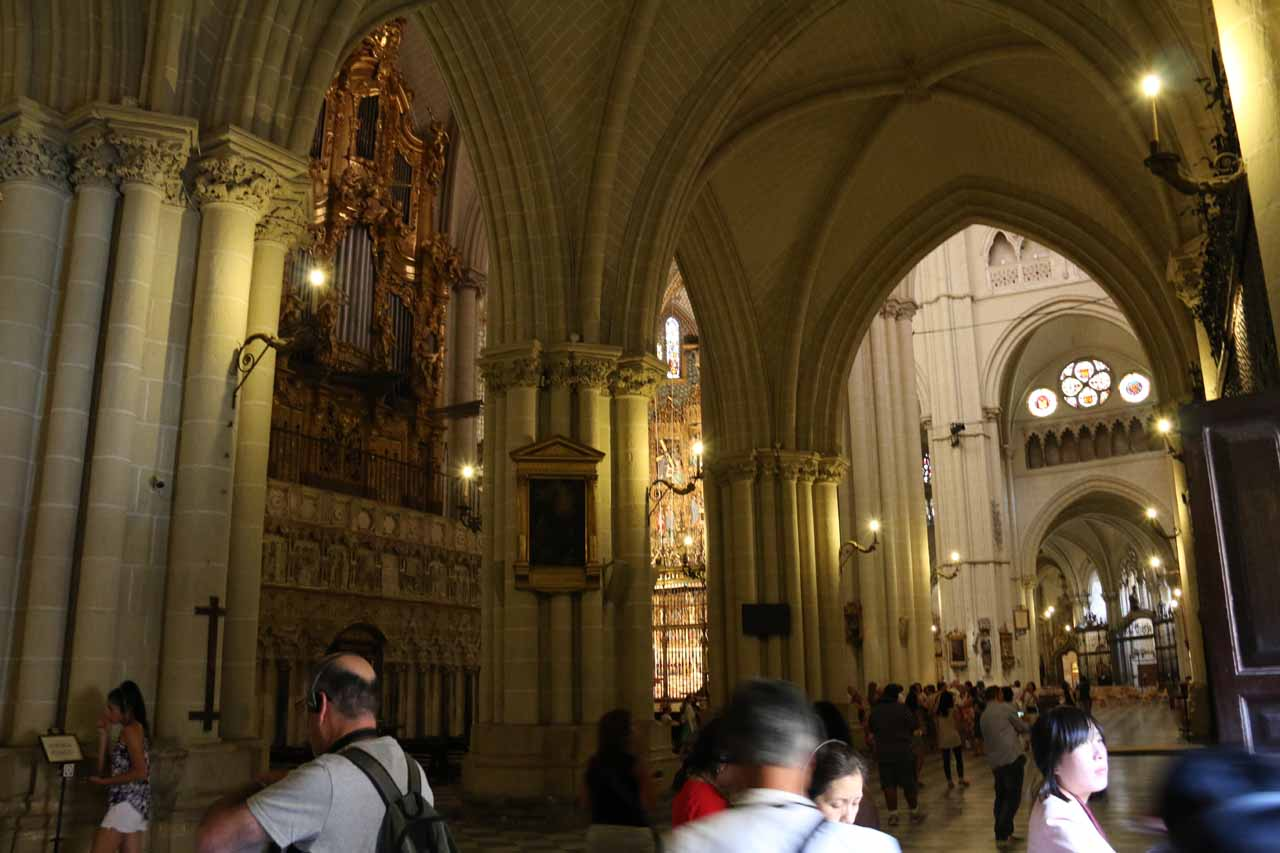 Back outside the Treasure Room and into the main area of the Catedral de Toledo