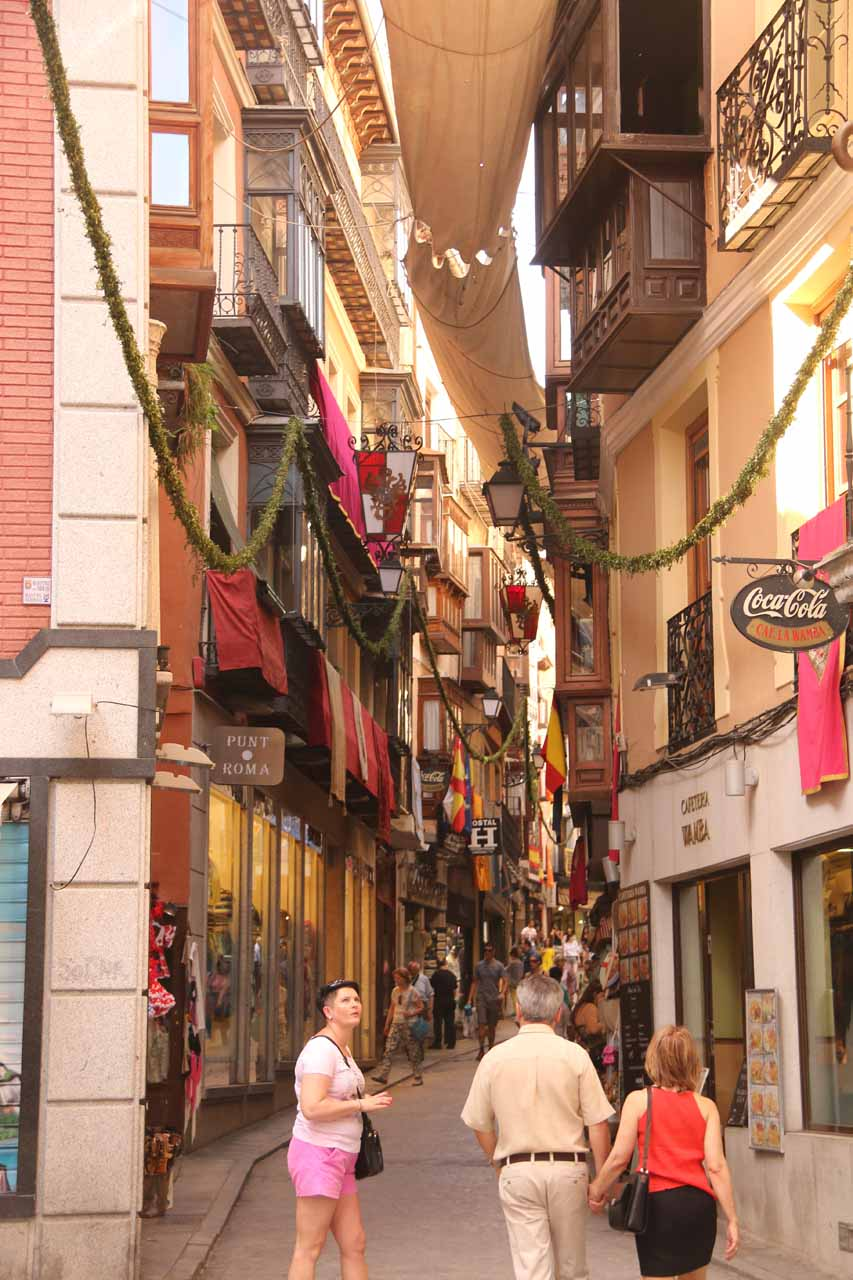 The Calle Comercial seemed pretty well decorated during our visit