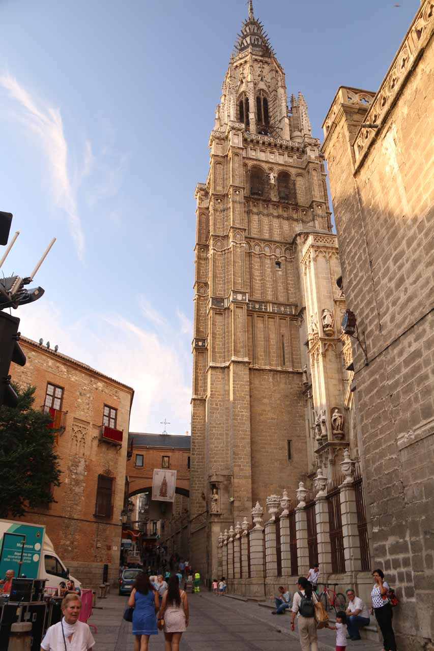 Back beneath the bell tower of the Catedral de Toledo